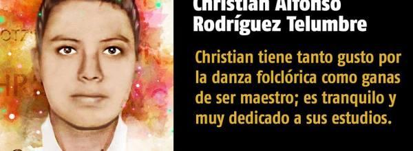 A 33 días #YoTeNombro Christian Alfonso Rodríguez Telumbre #Ayotz1napa #43Ayotzinapa