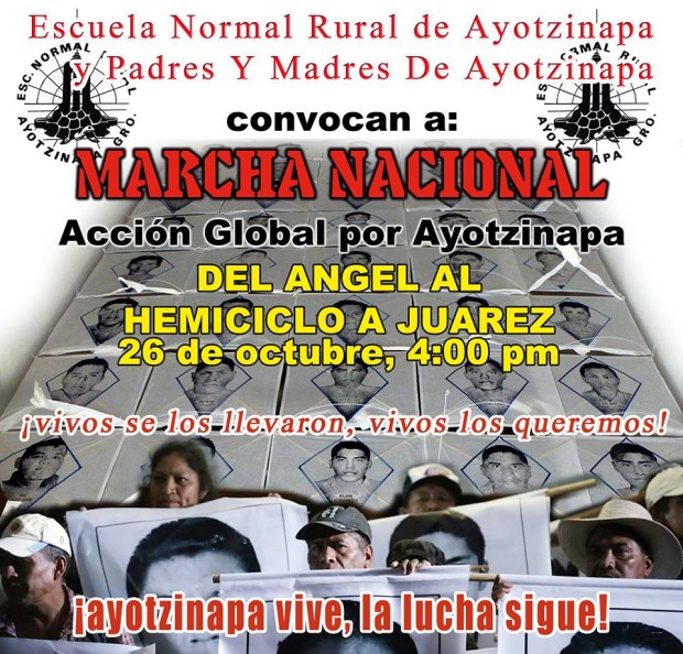 20151026 Accion Global por Ayotzinapa