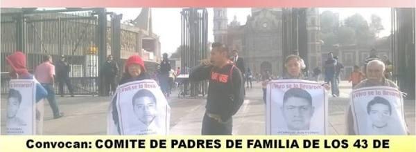 26 dic: XIX Acción Global por Ayotzinapa, de la Catedral a la Villa