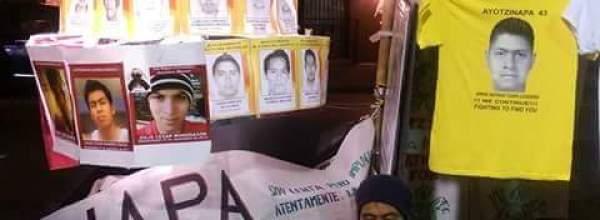 43 horas en huelga de hambre por los 43 desaparecidos de Ayotzinapa en New York