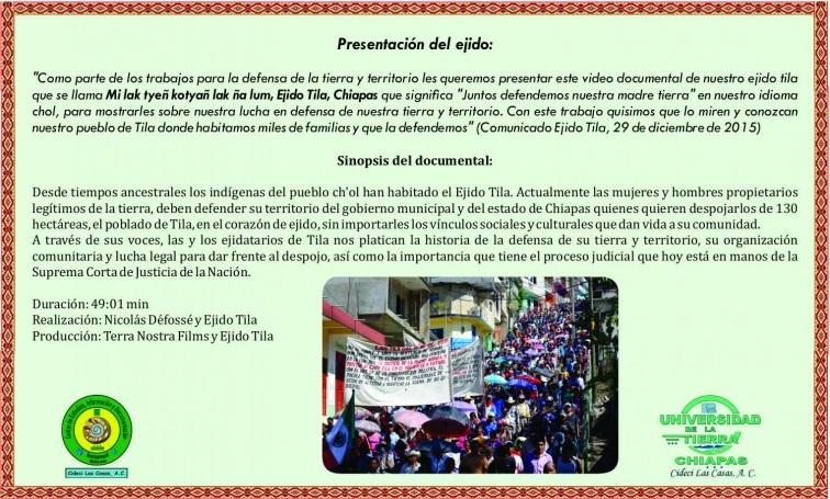 EjidoTila Cideci invitacion presentacion Mi lak tyeñ 2