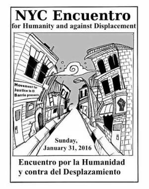 NYC Encuentro por la Humanidad y contra el Desplazamiento