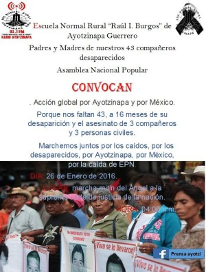 XX Accion Global por Ayotzinapa