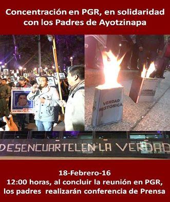 20160218 Concentracion PGR - solidaridad x Ayotzinapa