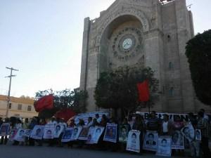La marcha-caravana en Matehuala, San Luis Potosí