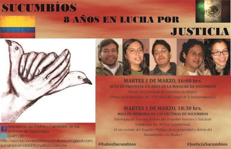 Sucumbios 8 años en lucha por justicia