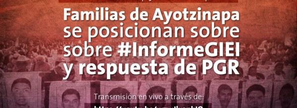 25 abr, 11 AM. En vivo: Madres y padres de Ayotzinapa ante II Informe GIEI y respuesta de PGR