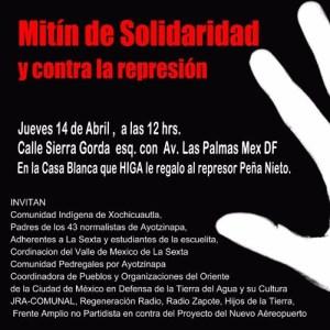 Mitin de Solidaridad y contra la represion