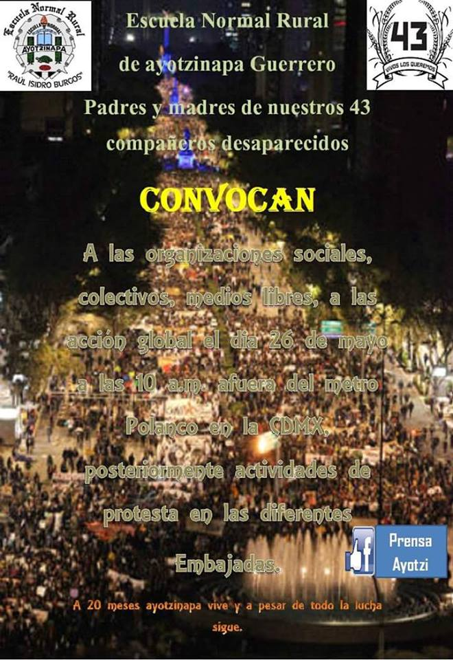 20160526AccionGlobalPorAyotzinapa