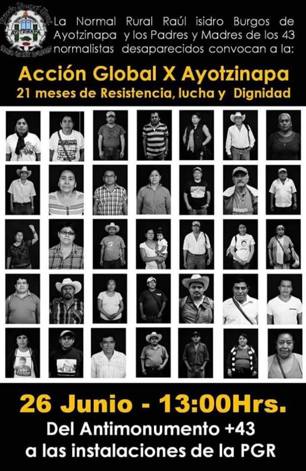 20160626 Accion Global por Ayotzinapa-