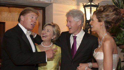 Los Clinton en la boda de los Ytump