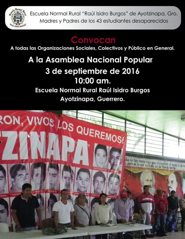 Asamblea Nacional Popular Ayotzinapa 3 de septiembre