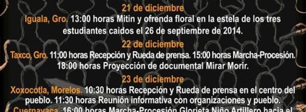 20-26 dic: Caravana por los 43, de Ayotzinapa a la Ciudad de México