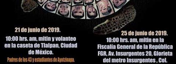21-27 jun: Jornada de protesta por Ayotzinapa