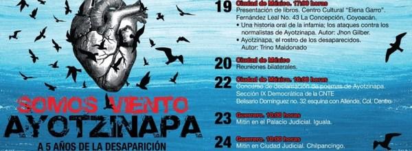 17-27 sep, a 5 años: Jornada de lucha por los 43 de Ayotzinapa