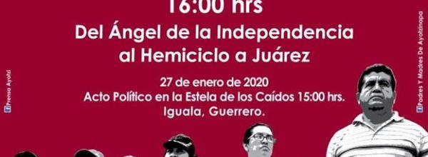 Ene 2020: Caravana en busca de los 43 y Acción Global por Ayotzinapa