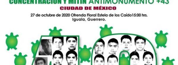 26 oct: LXXIII Acción Global por Ayotzinapa y por México