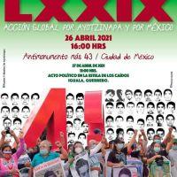 26 abr: Acción Global por Ayotzinapa y por México
