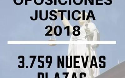 Oposiciones justicia 2018 | 3.759 nuevas plazas para los distintos Cuerpos de la Administración de Justicia