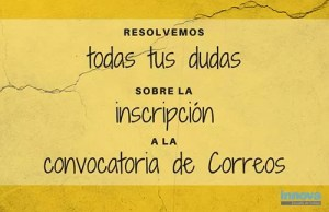 inscripcion convocatoria correos