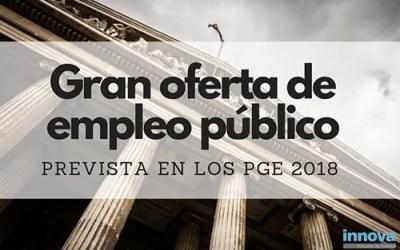 Academia oposiciones | Gran Oferta de Empleo Público prevista en los PGE 2018
