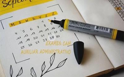 Ya está aquí la fecha de examen de Auxiliar Administrativo de la CAM
