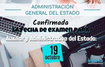 fecha examen administrativo 2019