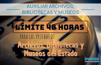 examen auxiliar de museos