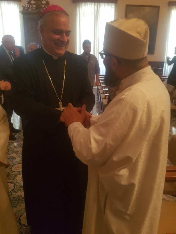 L'Abate di Montecassino, S.E. Rev.ma Donato Ogliari e l'imam di Cassino El Aichi Bouchaib