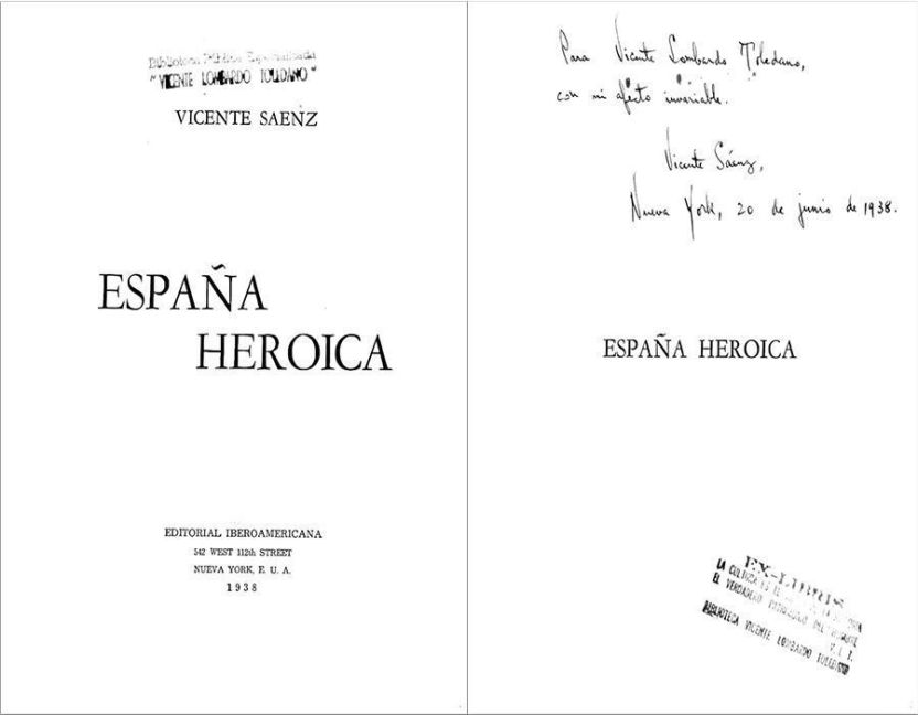 Sáenz Rojas, Vicente. España heroica. Nueva York: Iberoamericana, 1938.