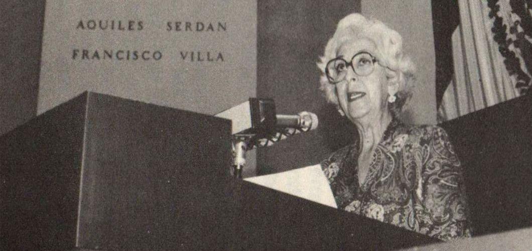 Imagen de MArcela Lombardo como diputada