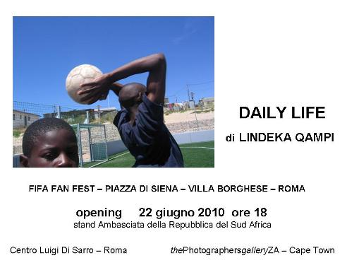 """DAILY LIFE ""Lindeka Qampi, FIFA Fan fest-Piazza di Siena-Villa Borghese, 22 giugno 2010, Roma"