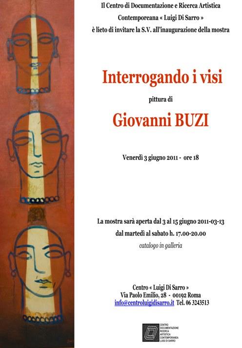 """""""Interrogando i visi. Pittura di Giovanni Buzi"""", 3 - 15 giugno 2011"""