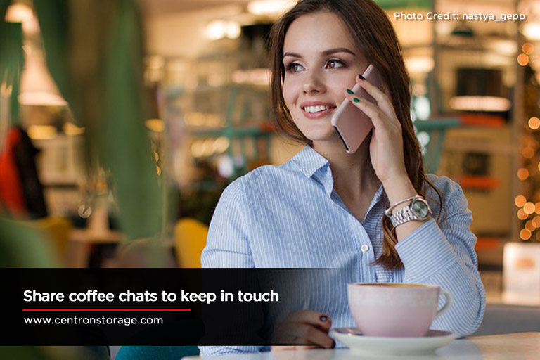 Share coffee chats to keep in touch