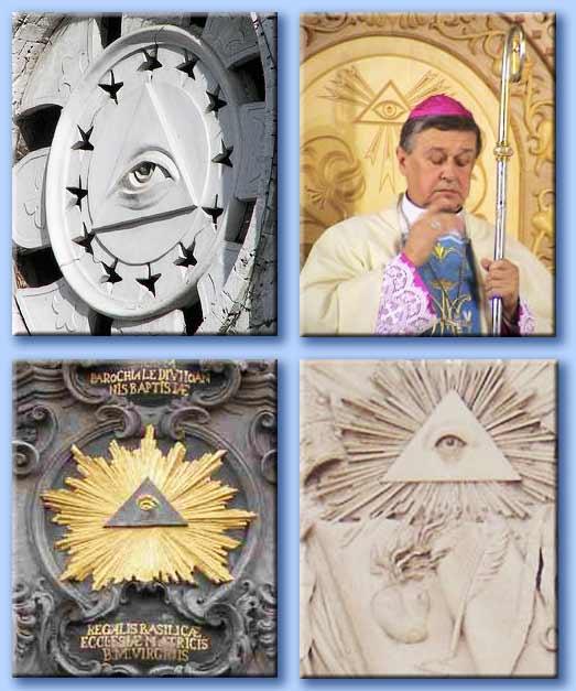 occhio onniveggente nelle chiese cattoliche