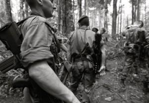 Esercitazione nella giungla della Guyana di un reparto dell'Esercito francese