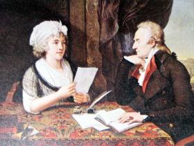 Alfieri e la contessa d'Albany, F. X. Fabre, 1796, Torino, Museo Civico di arte antica