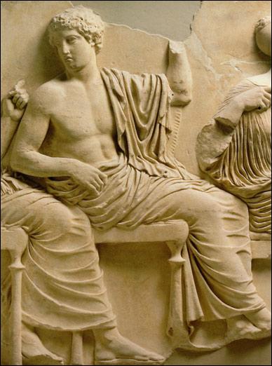 Apollo. Particolare del fregio est del Partenone.