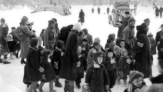Bambini finlandesi evacuati durante la Guerra d'Inverno (Museovirasto - Helsinki)