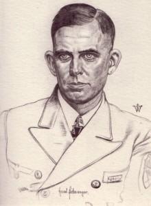 """Il capitano di corvetta Erdmenger, comandante dell'incrociatore """"Wilhelm Heidkamp"""" e delle truppe di marina presso Narvik"""