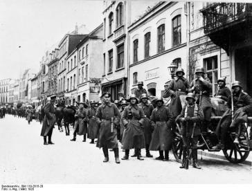 Il Freikorps Roßbach. Uno dei Freikorps più celebri, fu impegnato nella Prussia occidentale e sul Baltico.