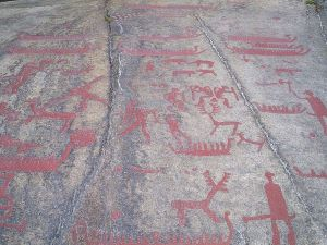 Incisioni rupestri di Tanum, Bohuslän, Svezia.