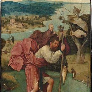 Hieronymus Bosch, San Cristoforo, olio su tavola, 1496 circa. Museo Boijmans Van Beuningen, Rotterdam.