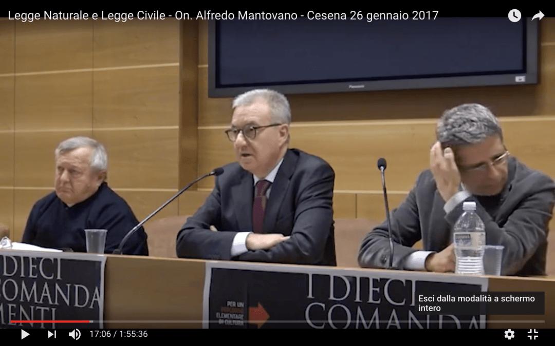 "Video – Alfredo Mantovano: ""Legge Naturale e Legge Civile"""