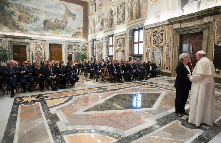 Papa Francesco ai membri della Commissione Antimafia