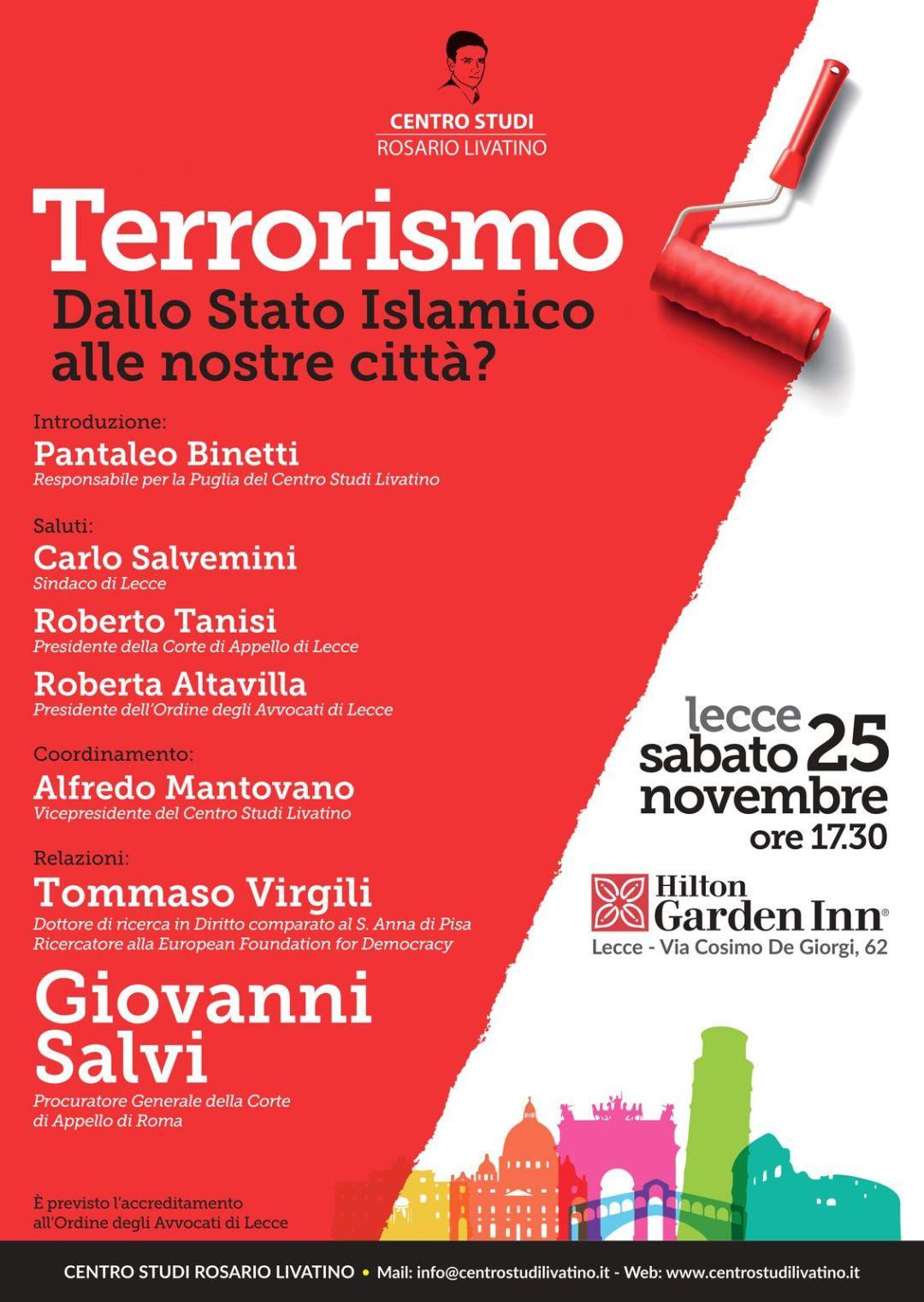 locandina convegno sul terrorismo a lecce
