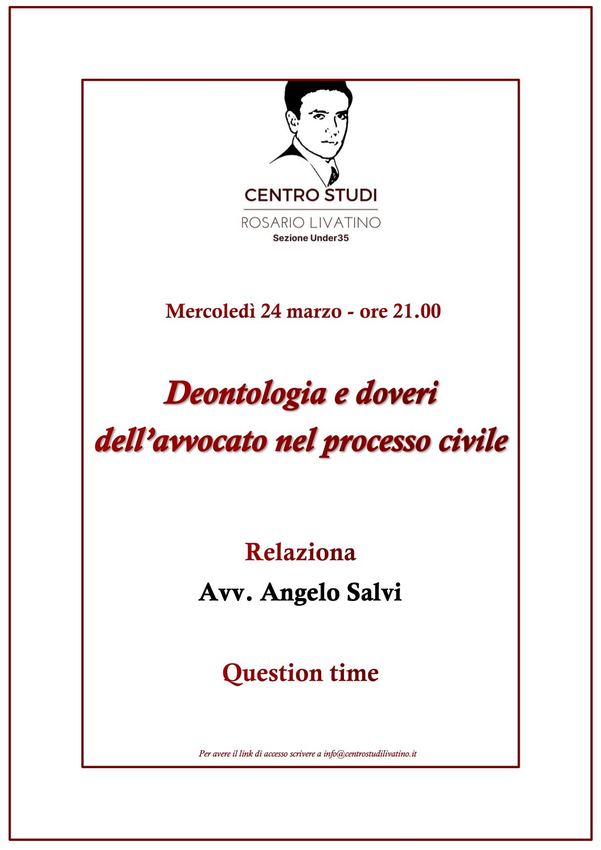 deontologia e doveri dell'avvocato nel processo civile - locandina