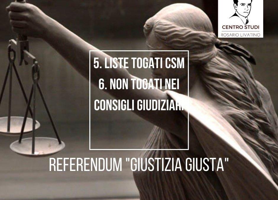quesiti referendum giustizia