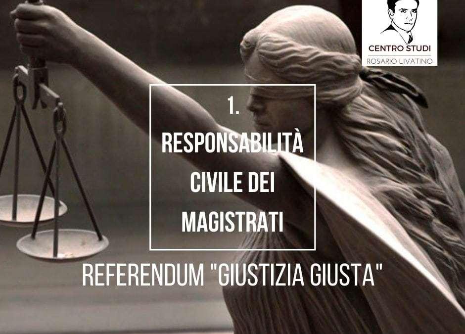 Referendum giustizia: responsabilità civile dei magistrati