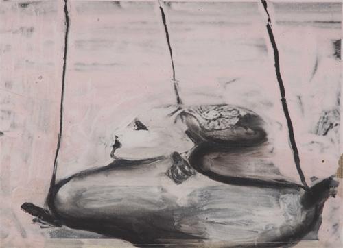 """Disegno di Laura Betti (Desdemona) in """"Che cosa sono le nuvole?"""" (1968)"""